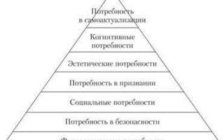 Теория иерархии потребностей маслоу — справочник студента