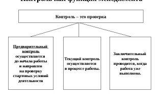 Контроль и анализ как функции менеджмента — справочник студента