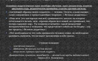 Развитие педагогики до я.а. коменского — справочник студента