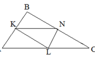 Средняя линия треугольника — справочник студента