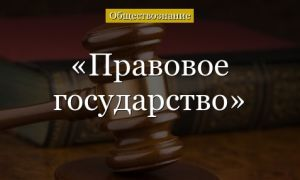признаки правового государства — справочник студента