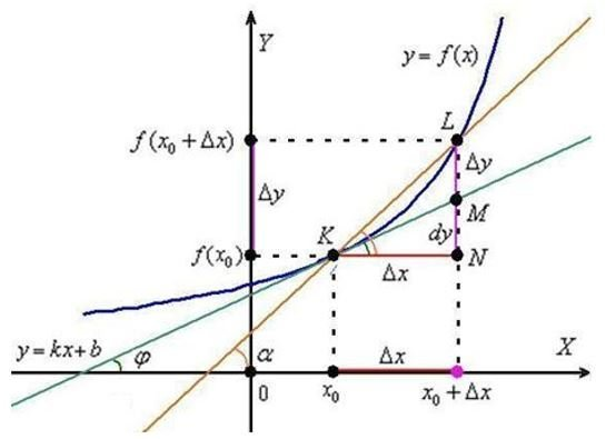 Производная и ее геометрический смысл - Справочник студента
