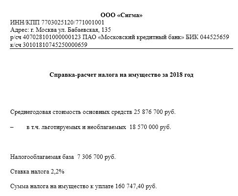 Учет налога на имущество организаций - Справочник студента