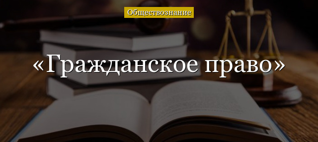 Система гражданского права в современной России - Справочник студента