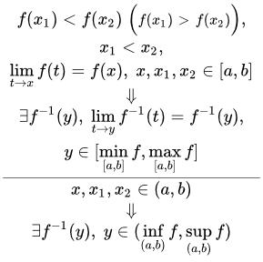 Взаимно обратные функции - Справочник студента