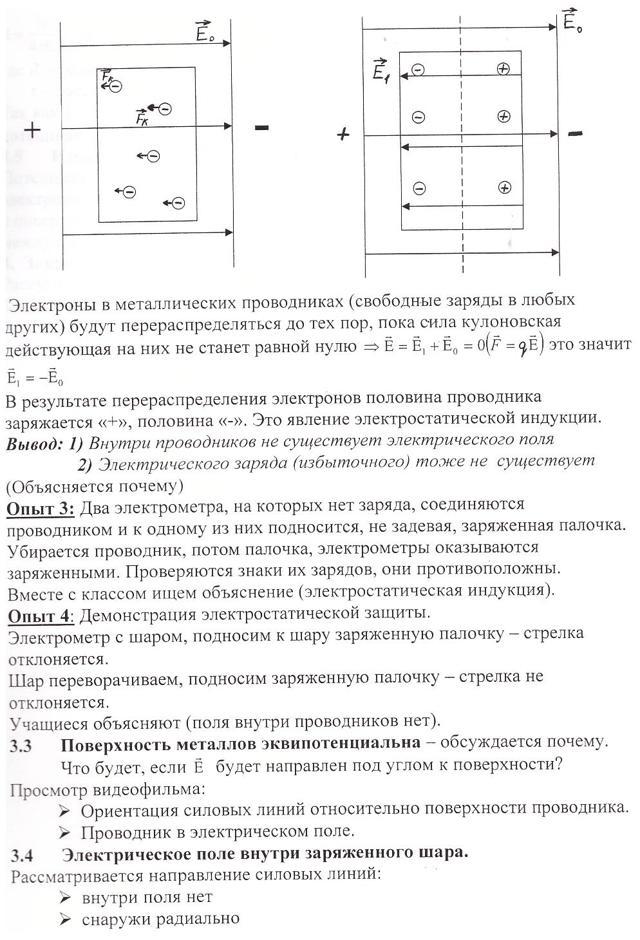 Проводники в электростатическом поле - Справочник студента