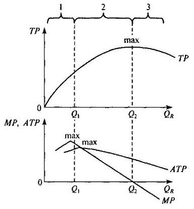 Закон убывающей предельной производительности - Справочник студента