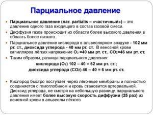 Парциальное давление и объём - Справочник студента